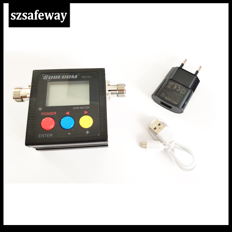 2020 NEW SW-102 125-525 Mhz Digital VHF/UHF Power  SWR Meter SURECOM For Two Way Radio SW102