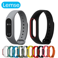 Lemse Multi-colors Replace Strap for Xiaomi Mi Band 2 MiBand 2 Silicone Wristbands OLED Display Smart Bracelet