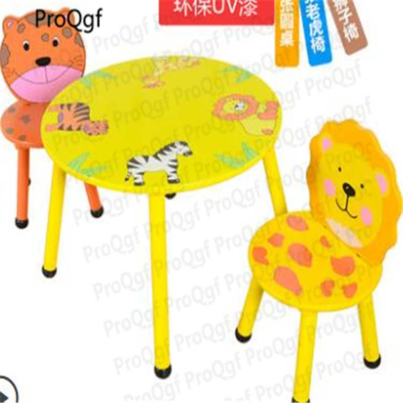 ProQgf 1 Set Cartoon children nursery study table and 2 desk