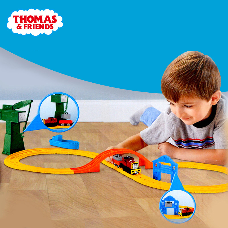 Genuine Thomas Friends Anime Car Toy Building Train Railway Learning and Educational Brinquedos For Children Birthday