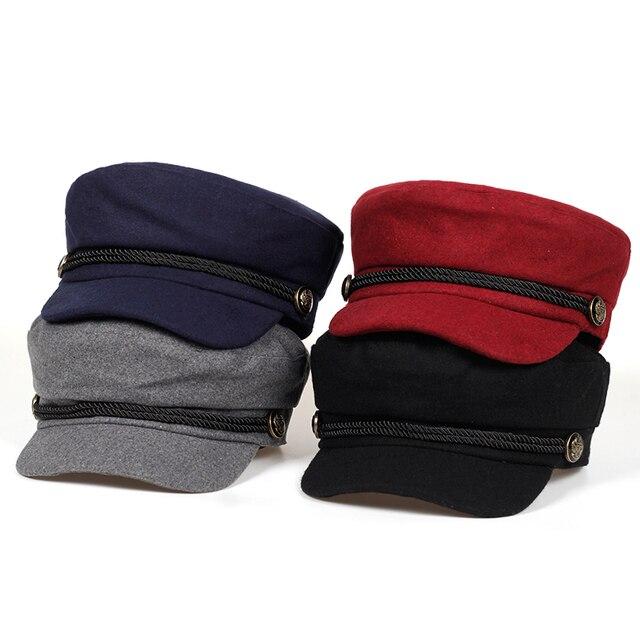2018 nuevos sombreros del invierno para las mujeres gorro de invierno  sombrero de lana botón femenino ea2ad329131