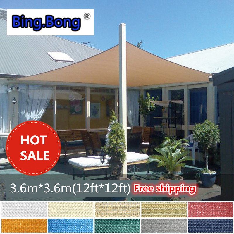 Sun Shade Sail HDPE Network 3.6*3.6m 12ft Square Shading UV Quality Net  Gazebo