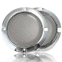 2pcs New 4 inch Silver Circle Speaker Decorative Circle Round Mesh Woofer Protective Grille