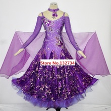 Purple Competition Modern Waltz Tango Ballroom Dance Dress, Smooth Ballroom Dress, Standard Ballroom Dress,Ballroom dance skirt