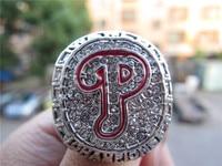 High Quality 2008 Philadelphia Phillies World Series Championship Ring Solid Men Christmas Fan Gift Free Shipping