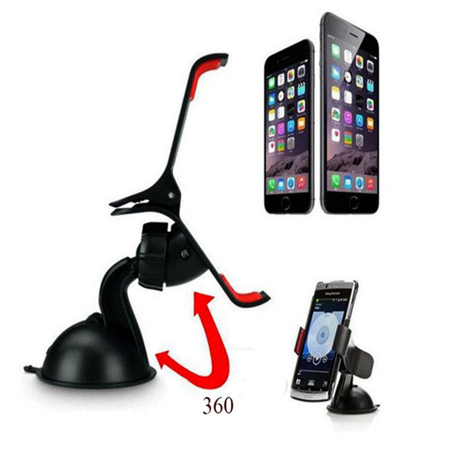 Universal 360 grau pare - brise de voiture mont Mobile Cell Phone Holder support Stands pour iPhone 5 6 Plus Galaxy Note 2 3 S4 S5 GPS