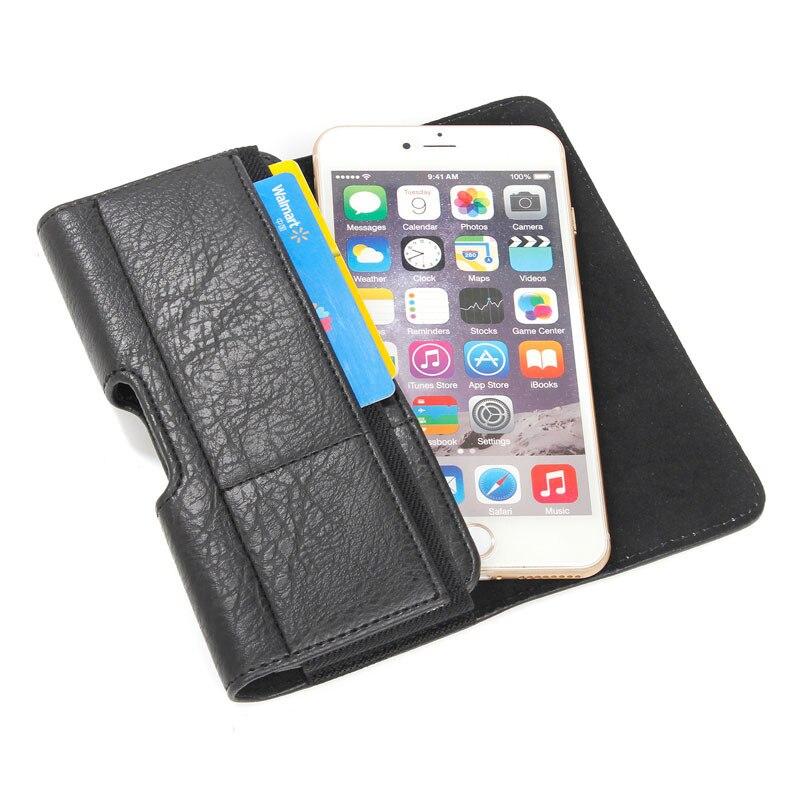 Nouvelle Hommes Taille Pack Ceinture Clip Sac pour iPhone 7 6 6 s plus Pouch Étui Cas De Couverture Classique Téléphone Cas avec Carte titulaire