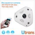 VR Wi-fi Câmera Panorâmica 960 P 15 m Night Vision P2P Vista Smartphones 128g cartão micro sd câmera ip sem fio hd câmera de segurança wi-fi