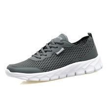 Fabrecanday Новинка 2017 года мужская повседневная обувь, летние сетчатые для мужчин, очень легкая обувь на плоской подошве, облегающие ногу большой Size35-48