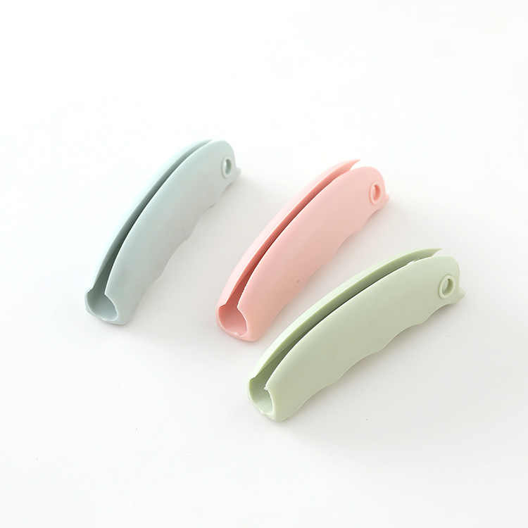 1PC Convenient Bag Hanging Quality Mention Dish Carry Bags Kitchen Gadgets Silicone Candy Color Save Effort Tools 29