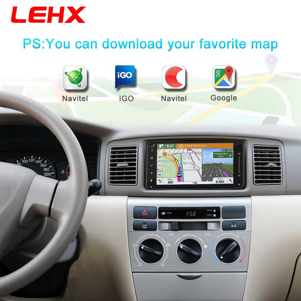 Samochód Android 8.1 multimedia dla toyota corolla 2 Din uniwersalne radio samochodowe z nawigacją Bluetooth Wifi samochodowe stereo odtwarzacz gps