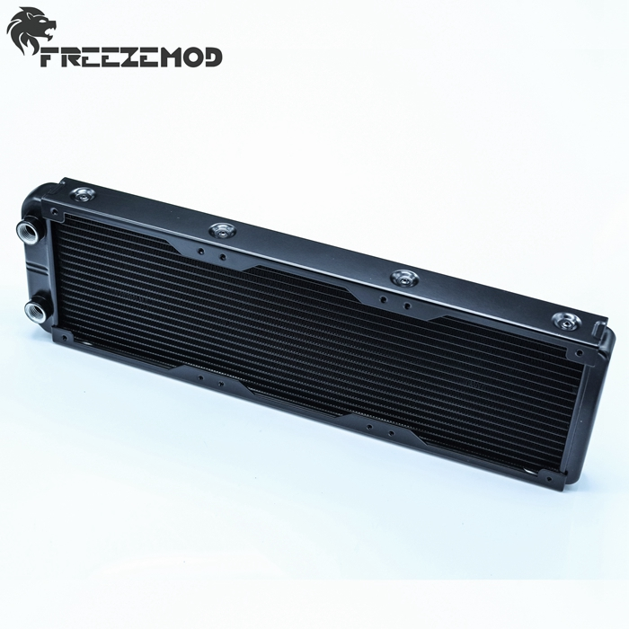 FREEZEMOD 360mm Aluminium Computer Water Discharge Liquid Heat Exchanger Thread Radiator For 120mm Triple-fans.  SR-L360G14