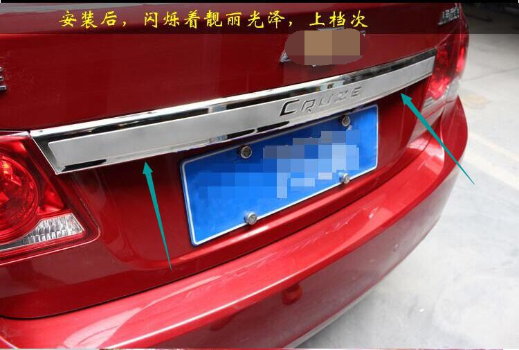 High quality stainless steel Rear Trunk Lid Cover Trim For Chevrolet Cruze 2009 2010 2011 2012 2013 2014