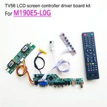 For M190E5-L0G computer LCD screen CCFL 4-lamp LVDS 30pin 60Hz 1280*1024 19″ HDMI/VGA/AV/USB/RF TV56 controller driver board kit