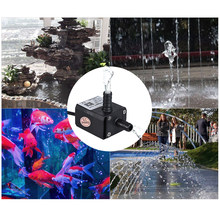 Dual-Outlet Mini Submersible Brushless Oil Water Pump Ultra-quiet Max. Lift 3 Meters 220L/H DC 12V for Fish Tank Aquarium(China)