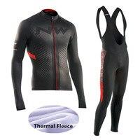 2017 Winter Thermal Fleece NW Cycling Jersey Ropa Ciclismo Mtb Long Sleeve Men Bike Wear Clothing