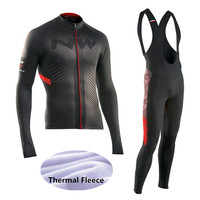 2017 Winter Thermal Fleece NW Cycling Jersey Ropa Ciclismo Mtb Long Sleeve Men Bike Wear Clothing