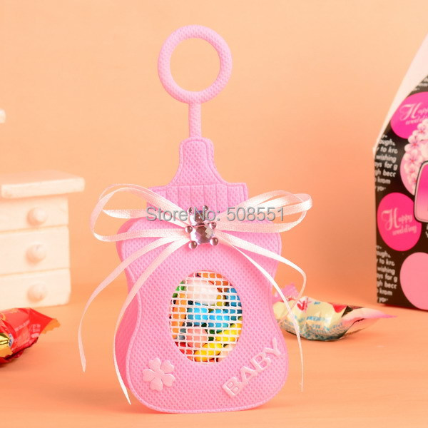12Pcs Baby Bottle Design Non Woven Fabric Candy Gift Bag/Box/Bags