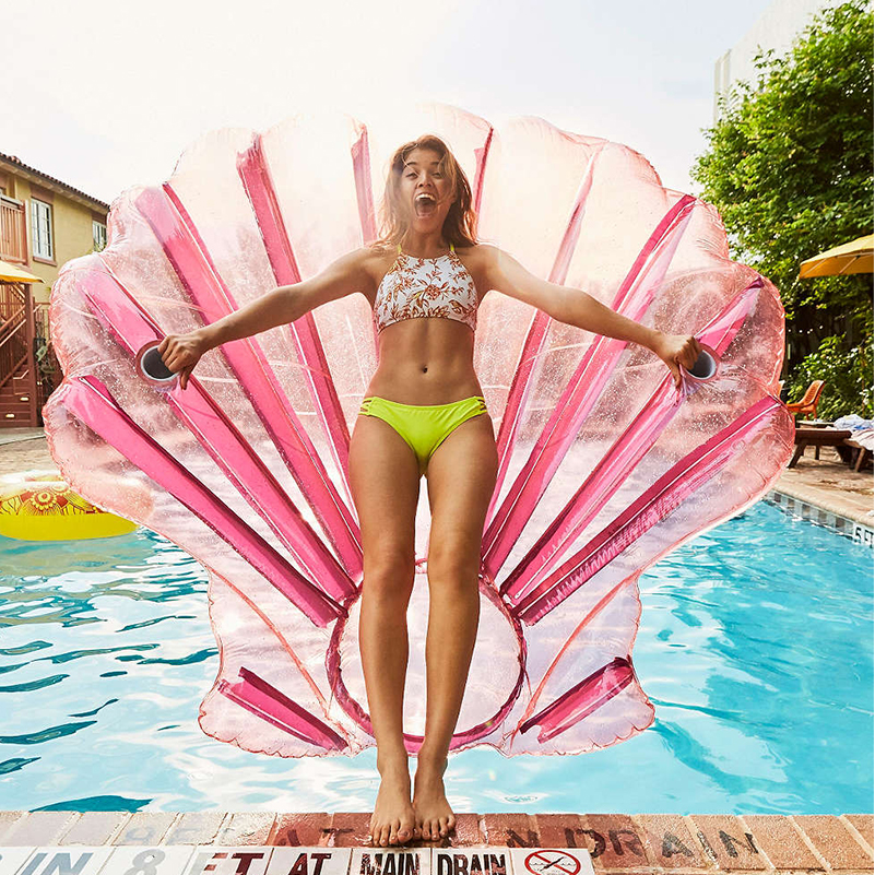 Giant Pool Float Shell Inflatable Swimming Floating for Adult Funny Bath Toys Swim Summer Pools Children Bathing Toys TD0046