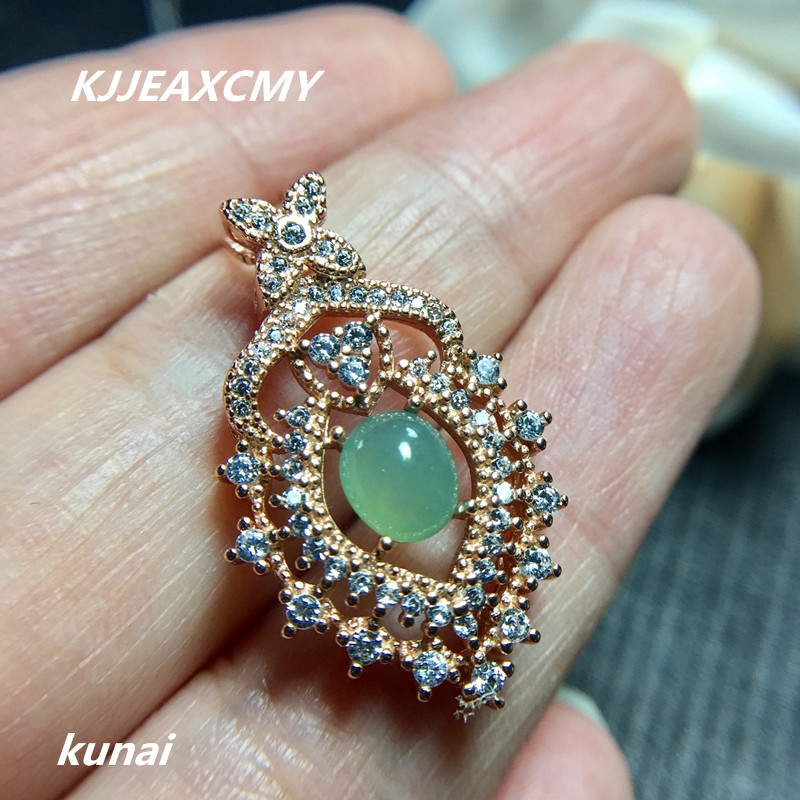 KJJEAXCMY boutique jewelry,Colorful jewelry 925 silver inlaid natural jade pendant factory direct sales ovxuan factory direct sales 100