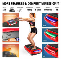 150KG Exercise Electrical Vibration Plate Fitness Platform with 4D vibration technology Body Shaper Trainer with Bands HWC