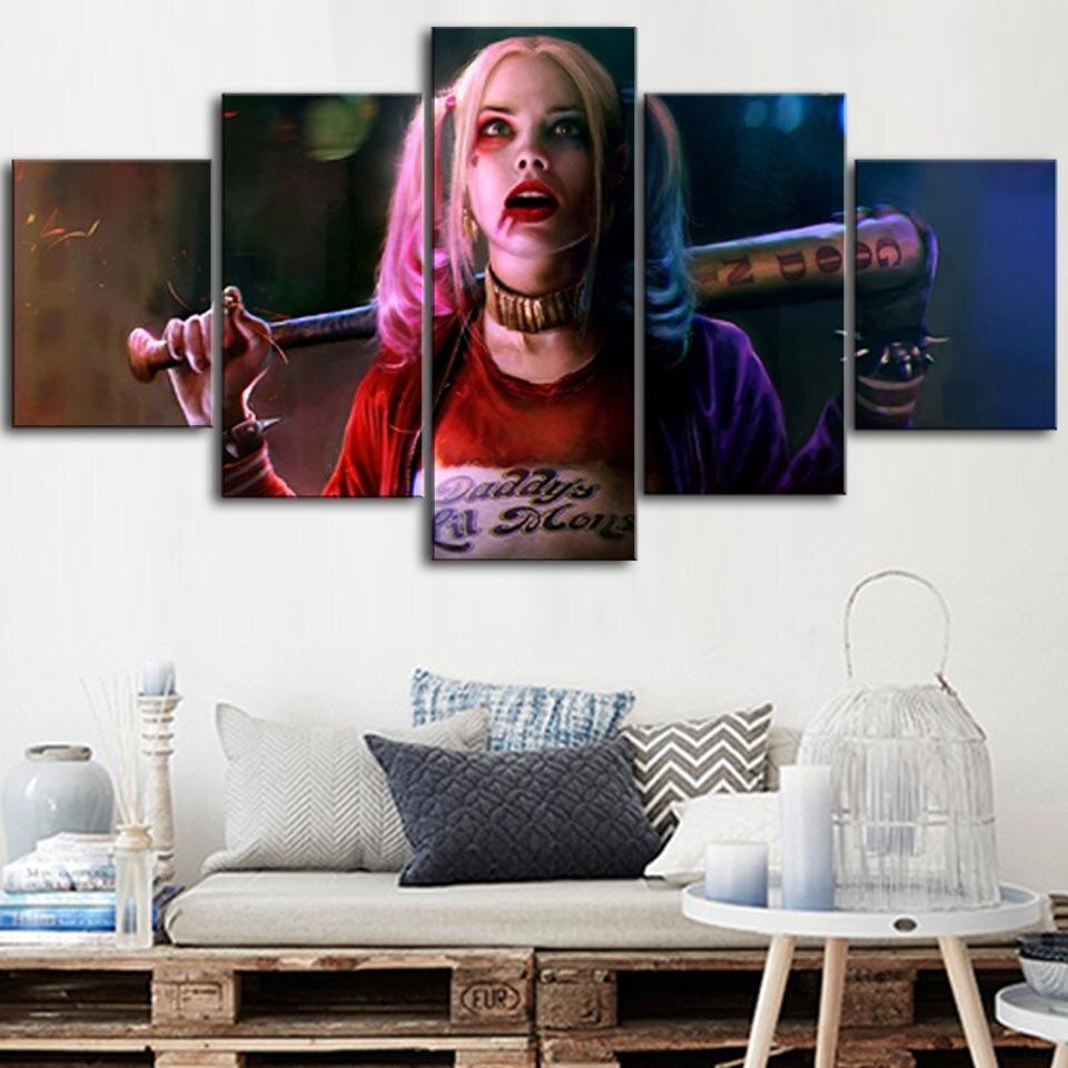 CLOWN GIRL CANVAS PRINT PICTURE WALL ART
