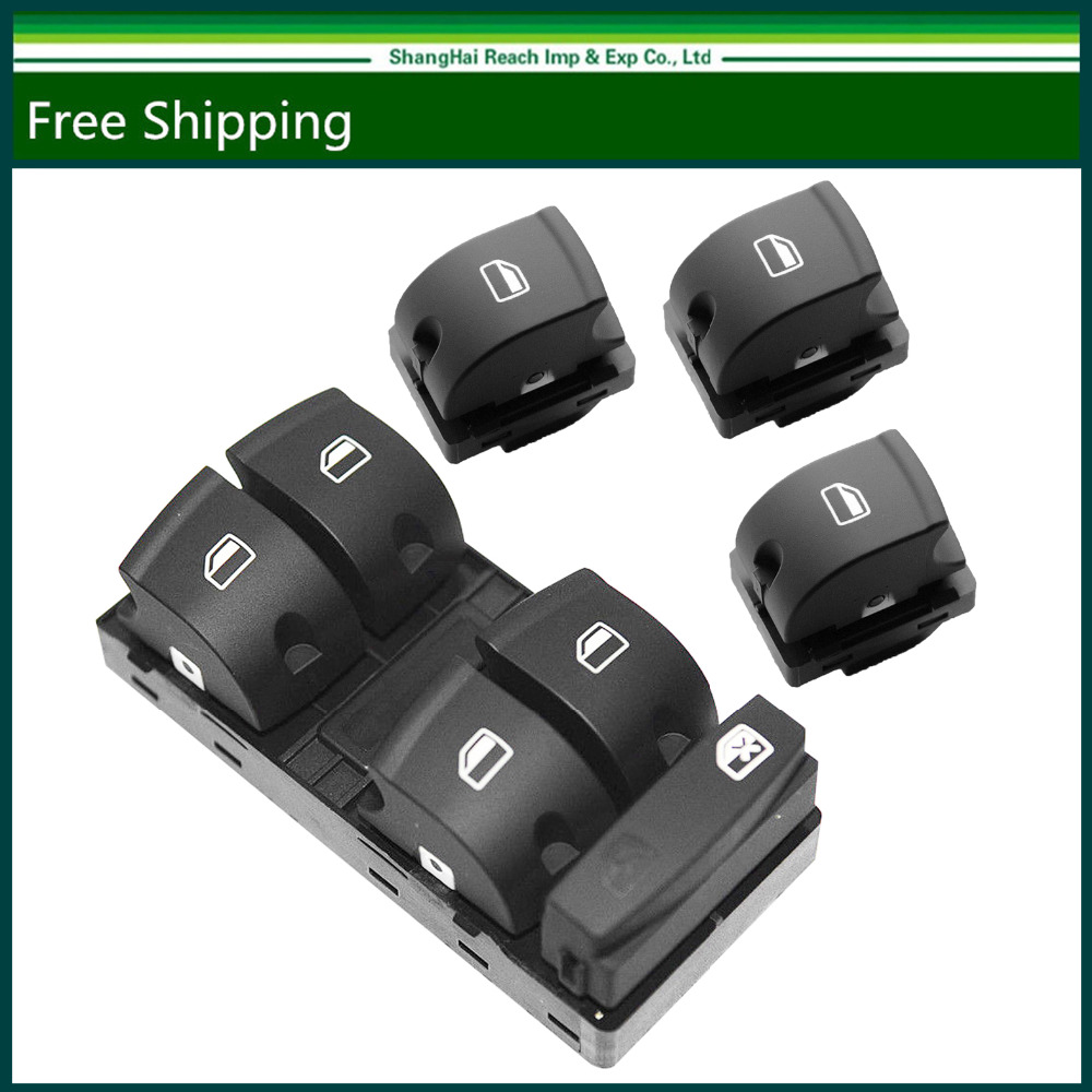 e2c 4PCS Electric Window Control Switch Panel For Audi A3/ A3 Sportback /A6  /C6 Sedan /Q7 set of 4 4FD OE#:959 851A/4F0 959 851F-in Car Switches &  Relays ...