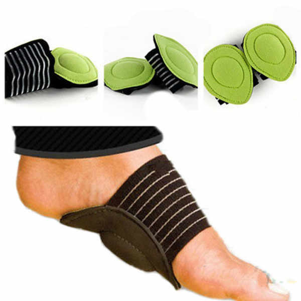 MOONBIFFY New Absorb Shocking Foot Arch Support Plantar Fasciitis Heel Pain Aid Feet Cushioned Useful Foot Care Tool