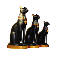 Exotic Egyptian Cat Ornaments Home Decor Gifts Home Decoration Accessories Home Crafts Figurines Miniatures