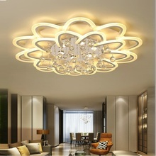 цена на LED chandelier crystal ceiling For Living Room Bedroom Study Room Home Deco Acrylic Crystal led ceiling  chandelier lights