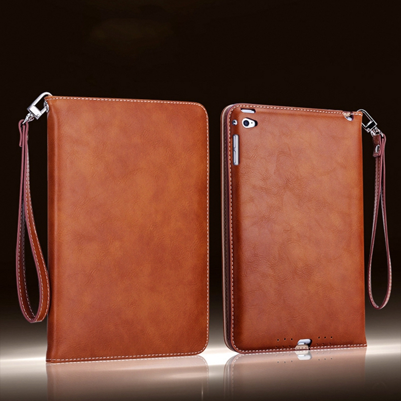 For ipad Air 1 2 Retro Briefcase Hand Belt Holder Leather Case For Apple ipad 5 ipad 6 Auto Wake Up /Sleep Stand Flip Bags Cover ultra thin for ipad air 2 case pu leather smart stand cover universal auto sleep wake up flip 9 7inch case for ipad air 1 2
