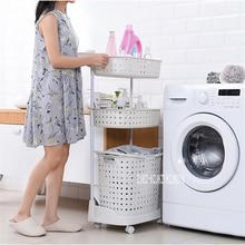8810 пластиковая корзина для белья, супер несущая корзина для грязной одежды, многослойная корзина для хранения игрушек с шкивом