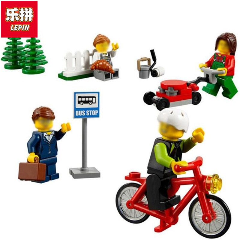 Lepin 258PCS City Town Fun In The Park People Pack Construction Set mini toys kids Compatible  60134 building block gifts lepin city town city square building blocks sets bricks kids model kids toys for children marvel compatible legoe