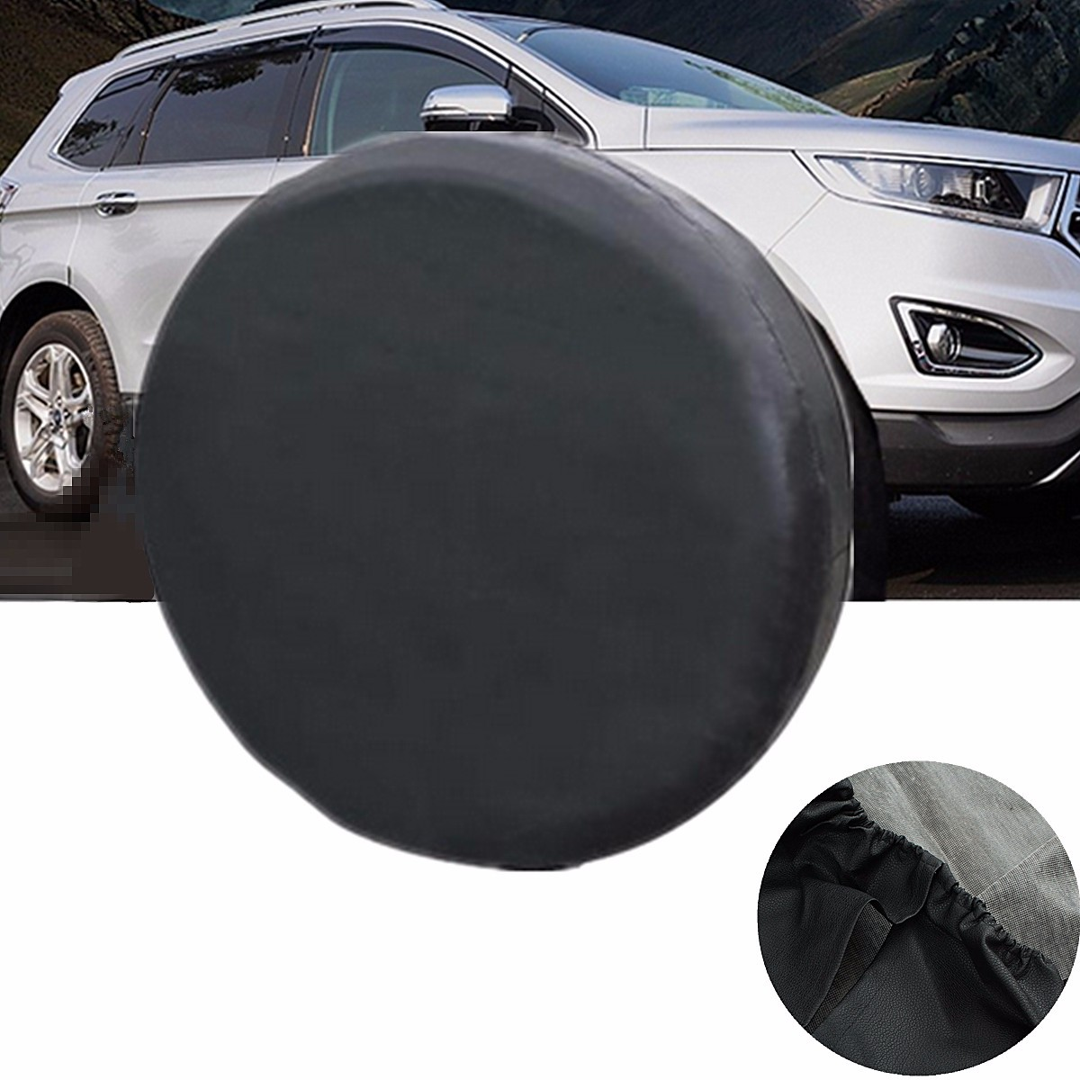 14 Inch Universal Soft Black Spare Tire Cover Wheel Covers For All Cars Tyre New pvc car spare 15 tire tyre cover black yellow white