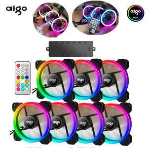 AIGO DR12 PC Cooler Computer Case Fan LED 120mm Fan Cooling dual halo multiple change