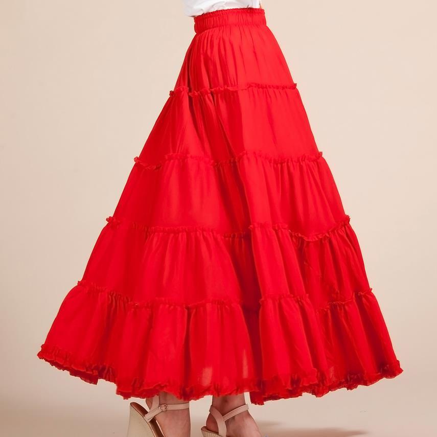New Summer Women Skirt Linen Cotton Vintage Long Skirts Elastic Waist Boho Maxi Skirts