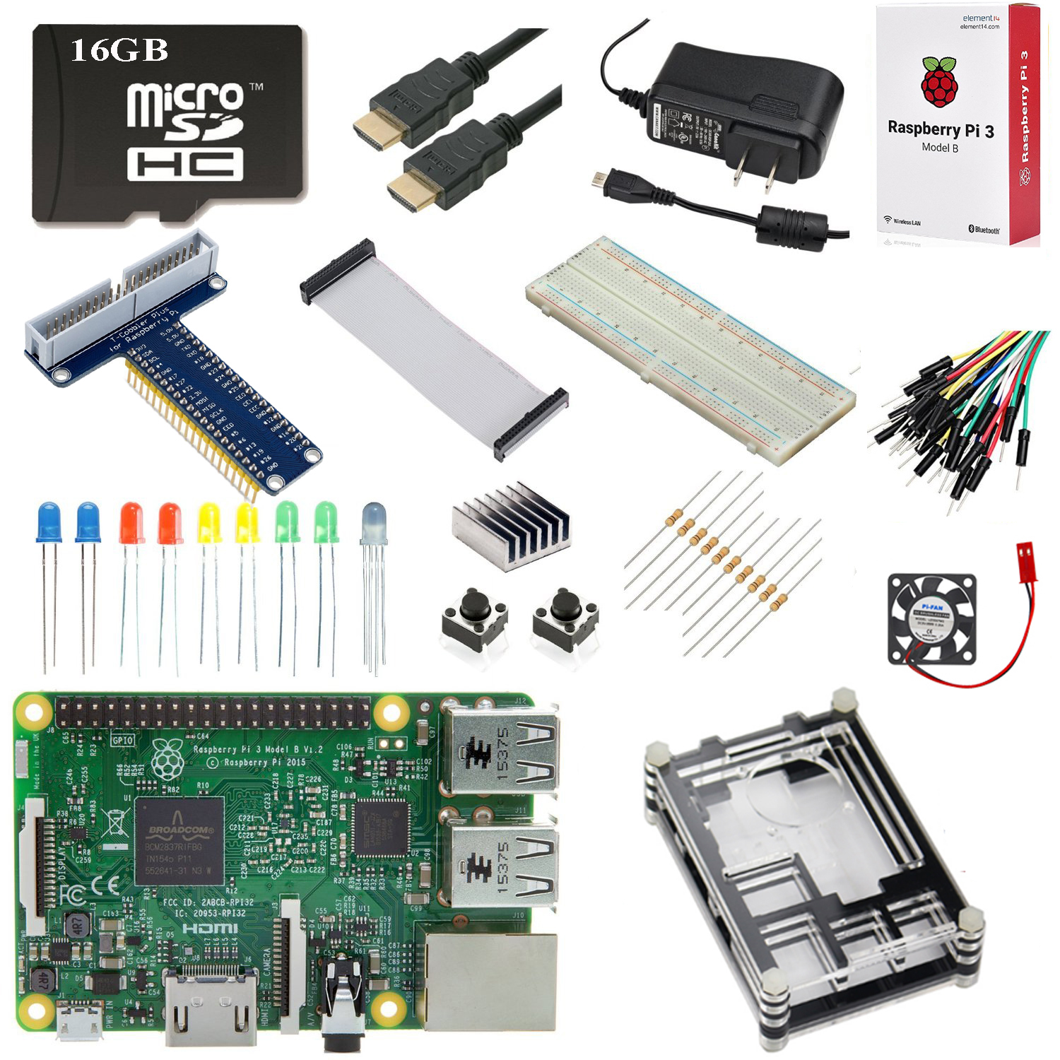 Raspberry Pi 3 Ultimate Starter Kit 16 GB Edition with High Quality Retail Box