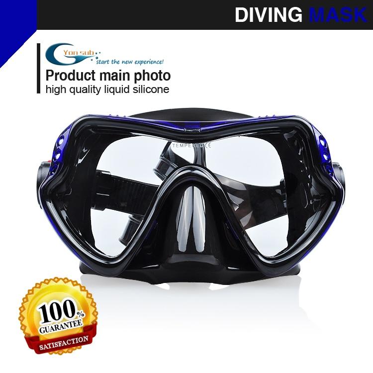 핫 세일 다이빙 마스크 프로페셔널 다이빙 실리콘 장비 스피어 낚시 수영 마스크 (블루)