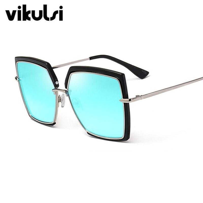 Cat Eye Pink Sunglasses Woman Shades Mirror Female Square Sun Glasses For Female Coating Gafas 2018