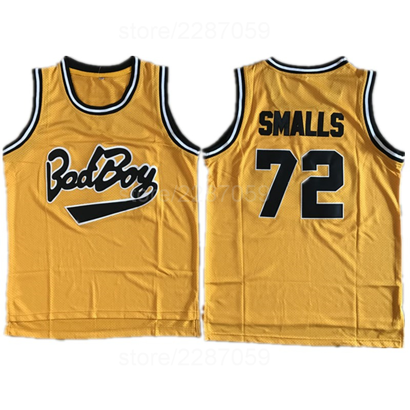 Ediwallen Movie Basketball Jerseys Bad Boy Notorious Big 72 Biggie Smalls  Jersey Men Embroidery And Sewing Yellow Black White-in Basketball Jerseys  from ... 5908d954c