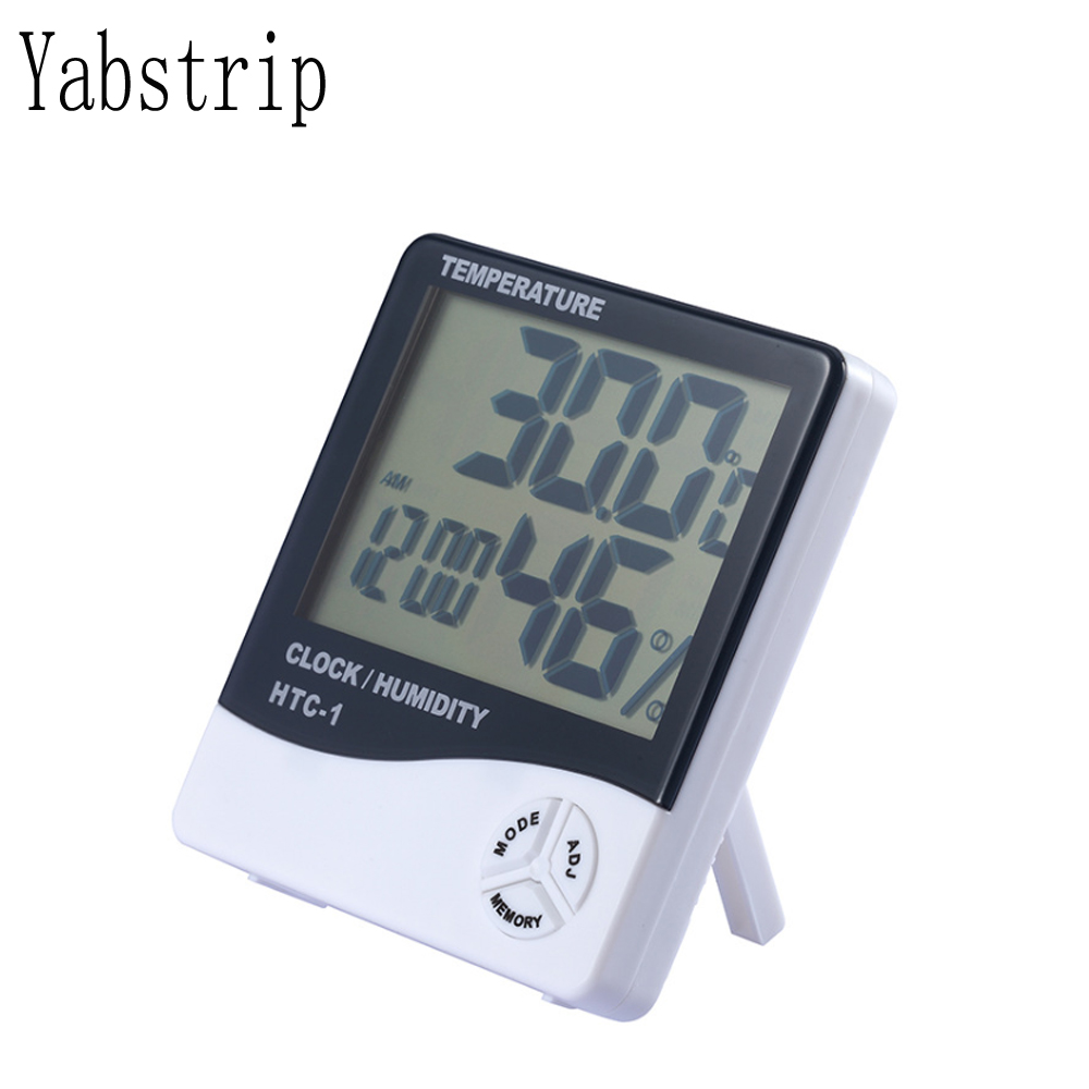 Yabstrip Humidity Monitor With Indoor Thermometer Digital Hygrometer And Humidity Gauge Indicator For Led Plant Grow Light Lamp