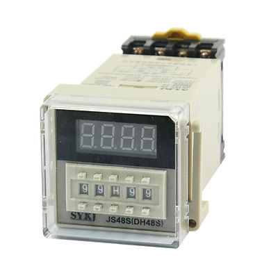 цена на JS48S(DH48S) AC 220V 99S99 99M99 99H99 LED Digital Display Time Timing Relay