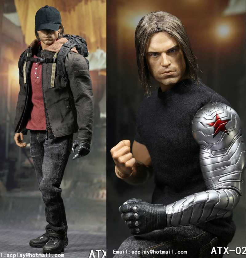 1/6 scale figure doll Captain America Civil War Bucky Barnes Sebastian Stan 12 Action figure doll Collectible model plastic toy 1 6 scale male head sculpts model toys downey jr iron man 3 captain america civil war tony with neck sets mk45 model collecti f