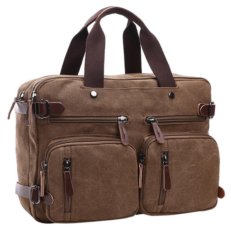 Décontracté 3 en 1 multifonction hommes sac à dos sac à dos toile sacs à dos d'ordinateur portable pour femmes hommes garçons voyage vacances sac à bandoulière sac à main - 2