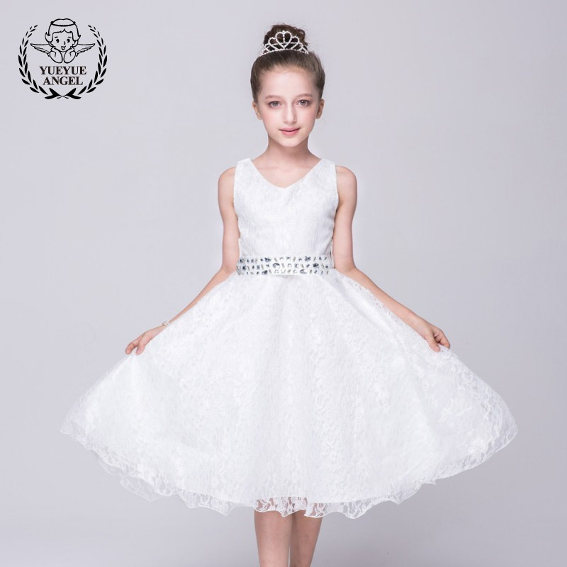 2018 New Moda Infantil For Big Girls Clothes Hot Summer Floral Party Dresses Sarafan Mesh Ruched Princesses Lace Elegant Dress ruched sleeve dolphin hem floral blouse
