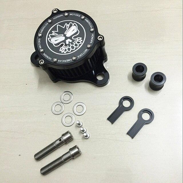 Filtro de Ar da motocicleta + RC Sistema De Filtro de Entrada Para Harley sportster XL883/1200 04'-UP Para Áspero artesanato Air Cleaner