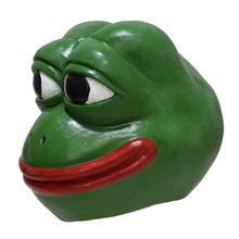 2019 Hot High Quality Realistic Rubber Animal Pepe Frog Latex Mask Comic Troll Face Meme Halloween mask