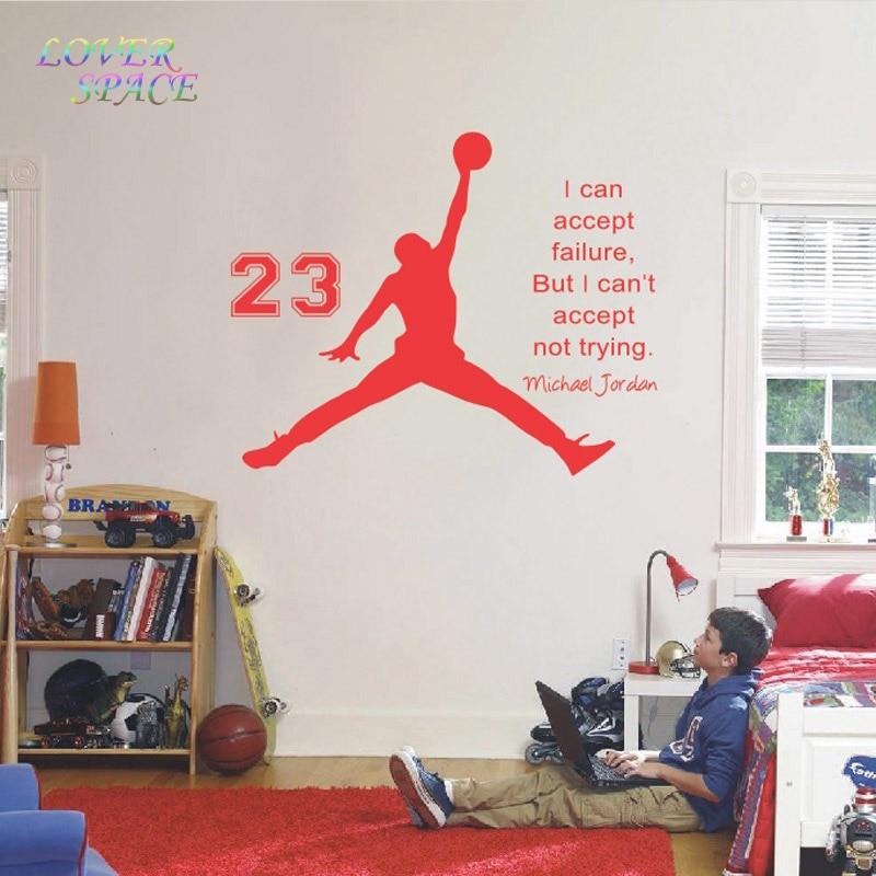 Michael Jordan Basketball Inspiration Sticker Citations Vinyle