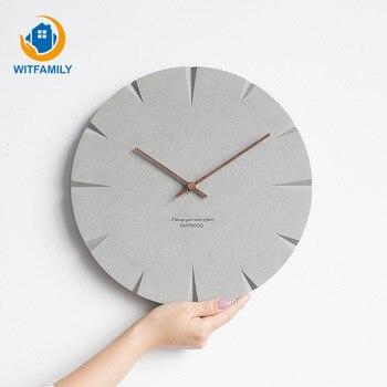 Living Room European Clocks Modern Minimalist Creative Wall Clock Nordic Personality Wall Charts Bedroom Mute Clock