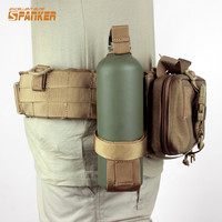 SPANKER Tactical Water Bottle Holder For Belt Molle Adjustable Outdoor Sports Bottles Carrier Military Nylon Kettle